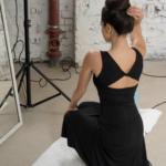 Simple and elegant black tango Dress