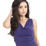 Draped neckline tango top