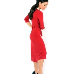 The bow Tango dress red made in Italy