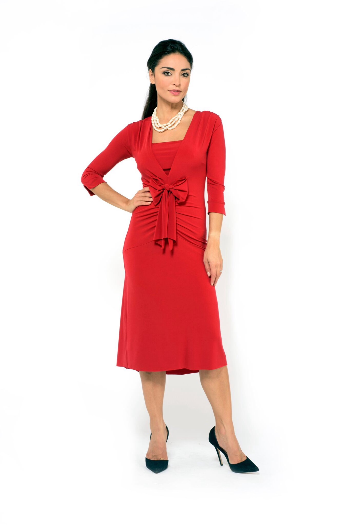 The bow Tango dress elegant red