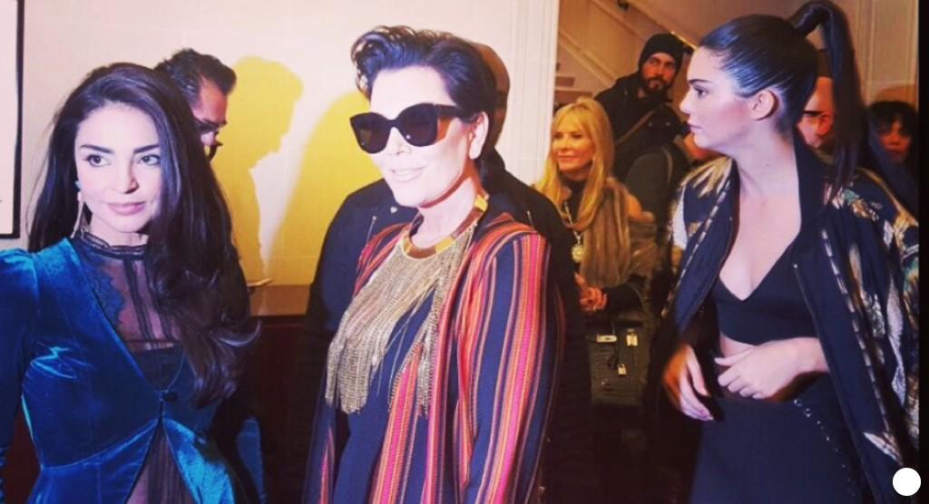 The London tango boutique velvet jacket, Kendall Jenner and Kris Jenner