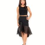 silk organza tango skirt