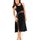 Sexy elegant Tango dress black, black and silver lace
