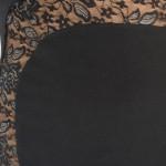 Best elegant Tango dress black, black and silver lace