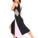 Best Argentine Tango dress, black, pink and grey jersey
