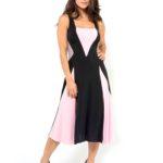 Simple Tango dress, black, pink and grey jersey
