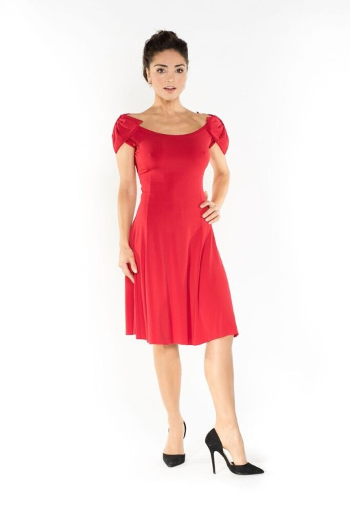 The two bows tango dress red
