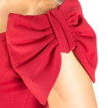 The two bows tango dress red detail