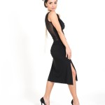 Simple Tango dress black jersey and tulle