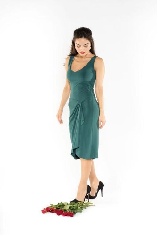 Simple Tango dress green elegant