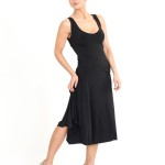 Simple tango and elegant dress black