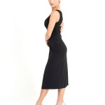 Simple elegant tango Dress black jersey