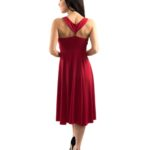 Red Tango Dress imperial waist line