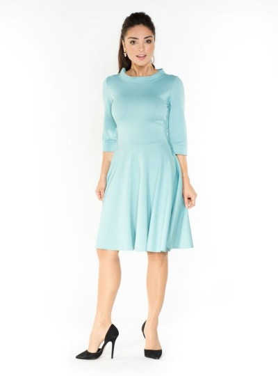 The light blue dress retro style