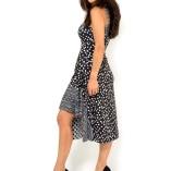 Elegant Tango dress black and white polka dots