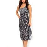 Tango dress black and white polka dots