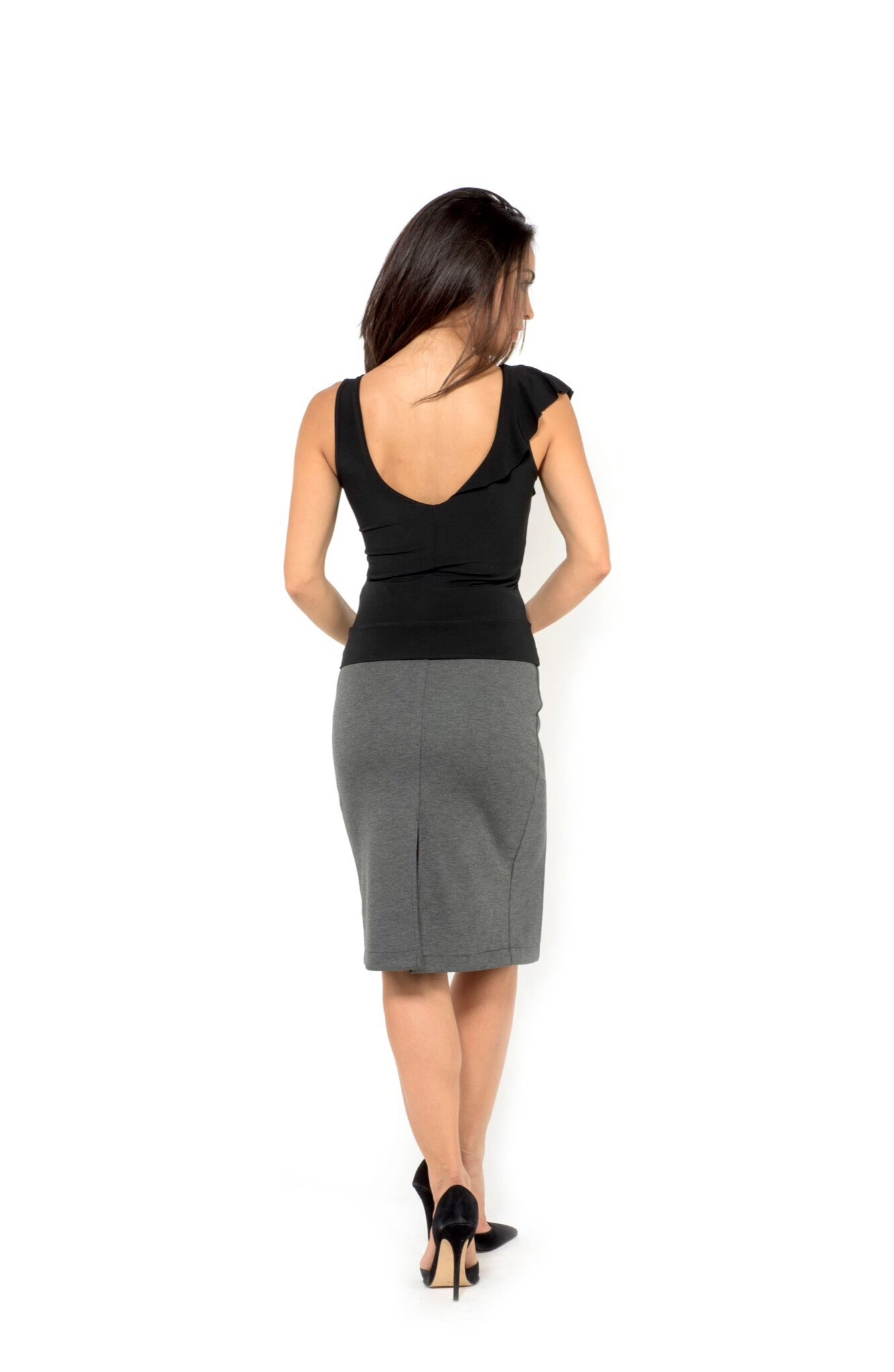 pencil skirt with slits the boutique