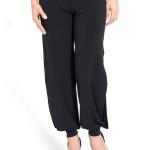 Tango trousers, tango pants, black, side slit