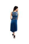 Exquisite Tango dress in electric blue and lace