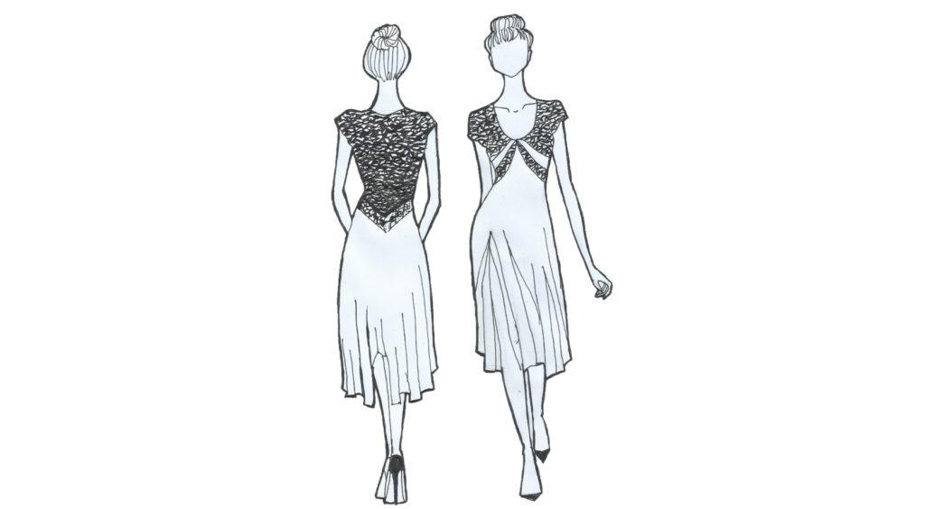 The V tango dress elegant tango clothing made in Italy buy online