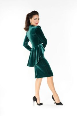Green Velvet tango jacket