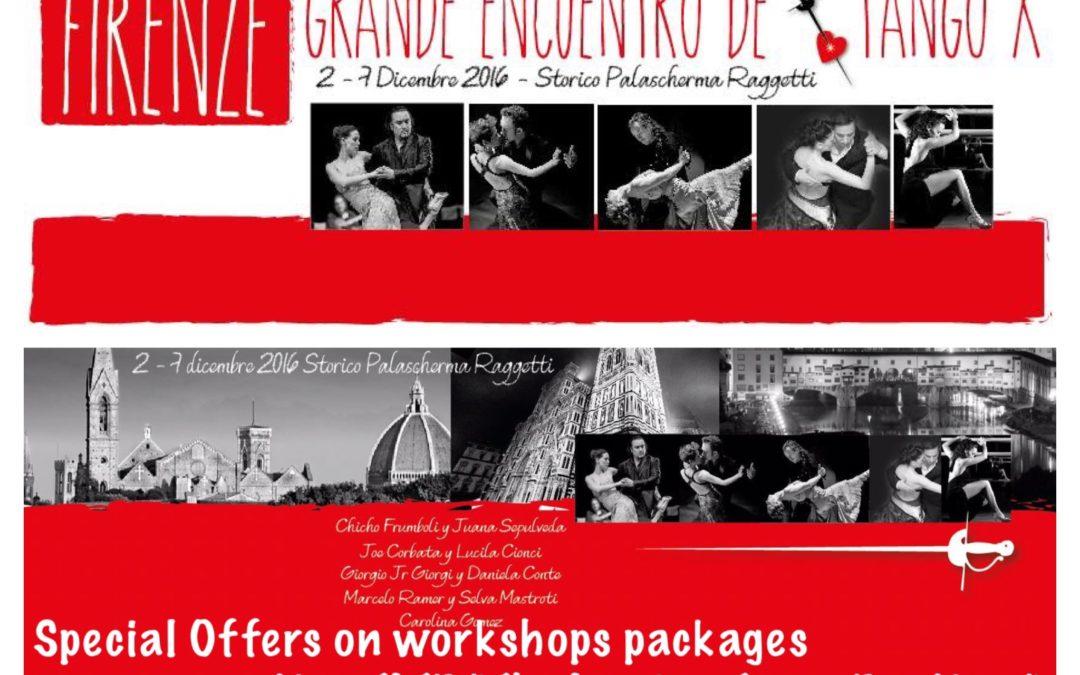 Grande Encuentro de Tango – FIRENZE 2-6 December 2016