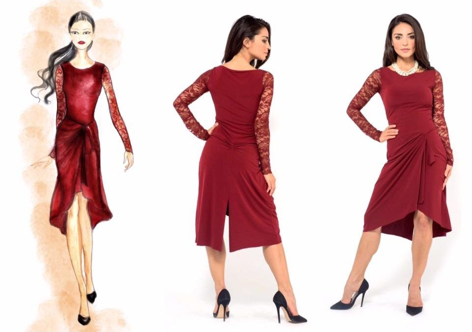 THE FEDERICA TANGO DRESS – AVAILABLE WITH V NECKLINE UPON REQUEST