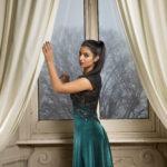 TAGNO CLOTHES tango dress green BLACK RED velvet lace