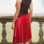 Velvet Argentine tango dress