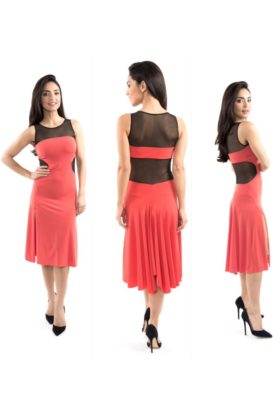 Tango dance dress great flow slimming shape