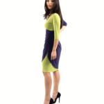 Wrap dress bi colour