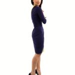 Wimbledon dress for larger ladies, optical effect of a slimmer waist