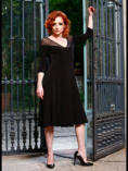 Plus sizes black tulle cocktail dress argentine tango
