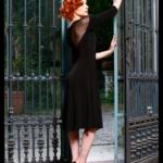 Argentine Tango dress plus sizes XL black tulle