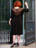 Tango clothing black tulle and lace tango dress for plus sizes and XL