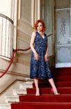 Summer cotton lace dress for large women XL L