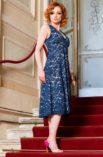 Navy blue lace summer Argentine tango dress