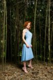 Argentine tango clothing cotton lace fitted dress