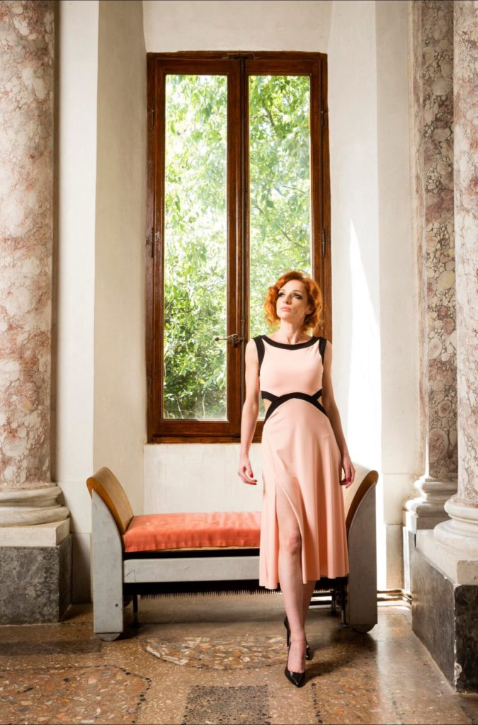 Slimming effect summer tango dress