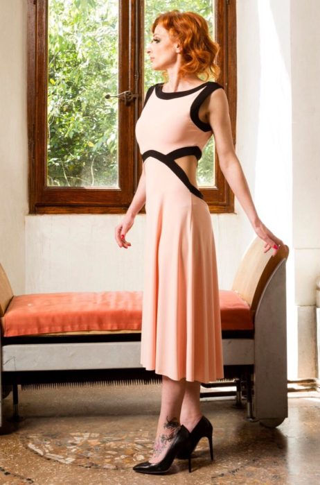 Summer tango dress slimming effect made in Italy