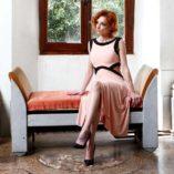 Summer light pink dress tango clothing