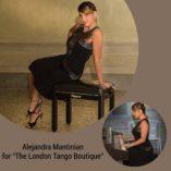 Alejandra Mantinan wearing the Twenties dress By The London Tango Boutique
