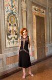 Vintage Argentine tango dress, black and gold tango dress