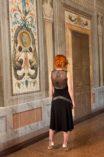 Argentine tango, twenties evening dress, cut outs dress