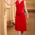 Red tango dress made in Italy