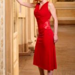 Cremona Tango dress with draped neckline