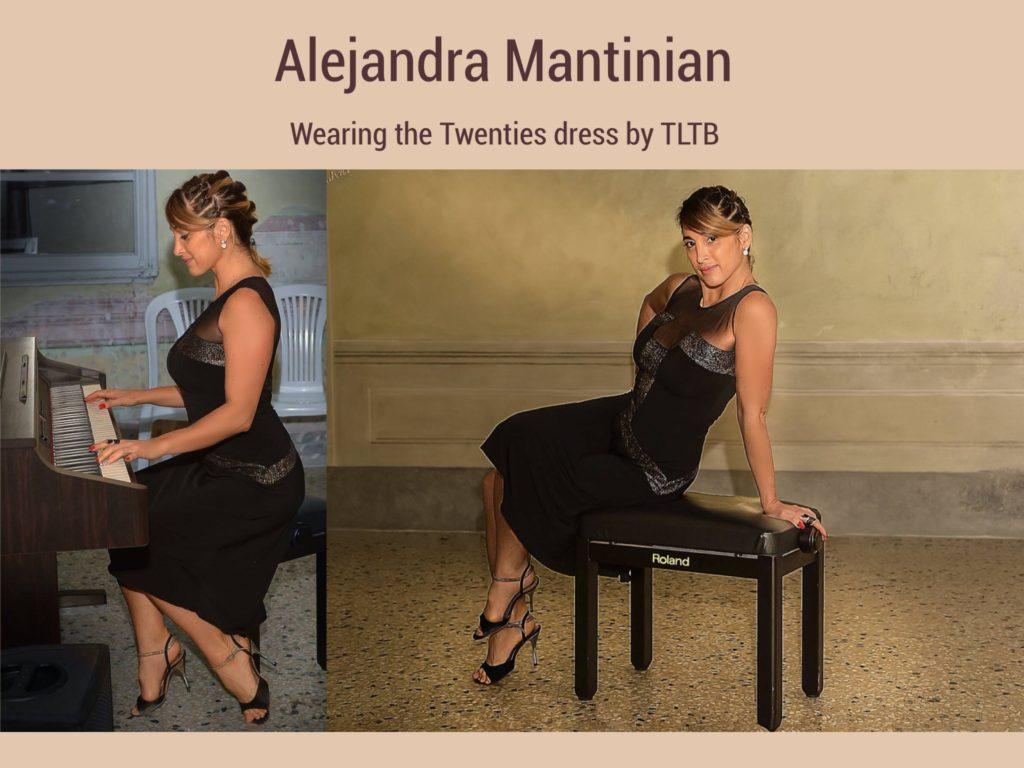 Alejandra Mantinian wearing The London Tango Boutique's Twenties dress