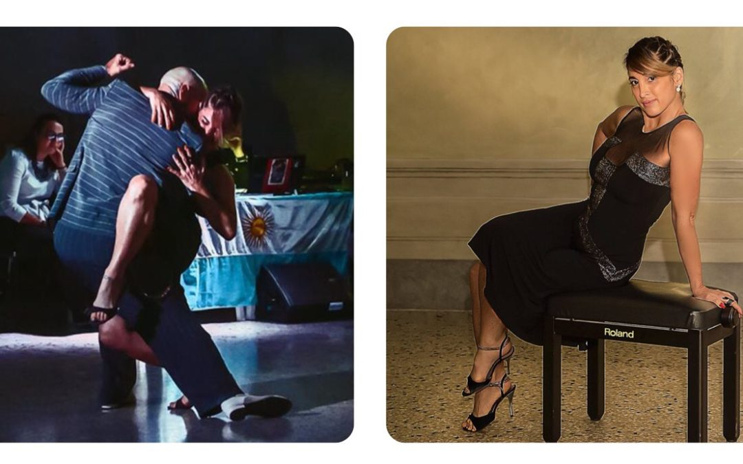 Alejandra Mantinan wearing TLTB's Twenties Tango dress