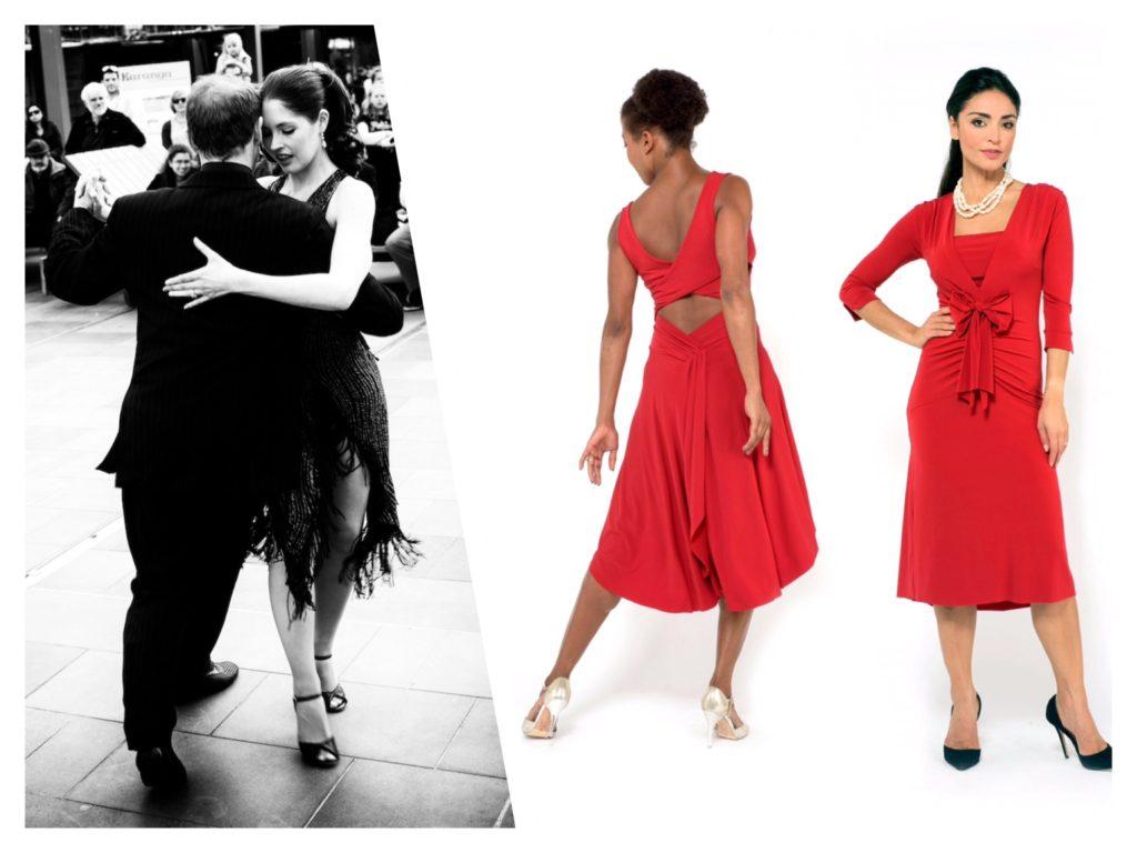 San Valentine 2018 gift red tango dress