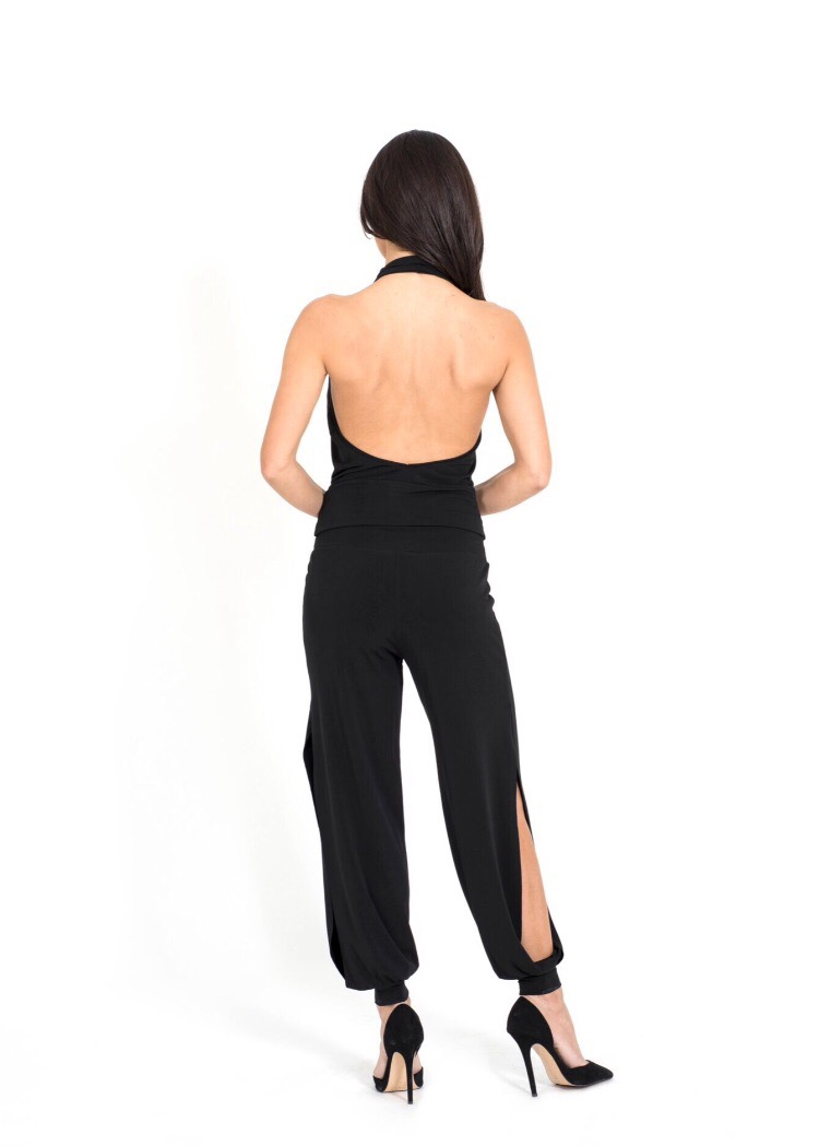 A back view of a babucha ladies' tango trousers